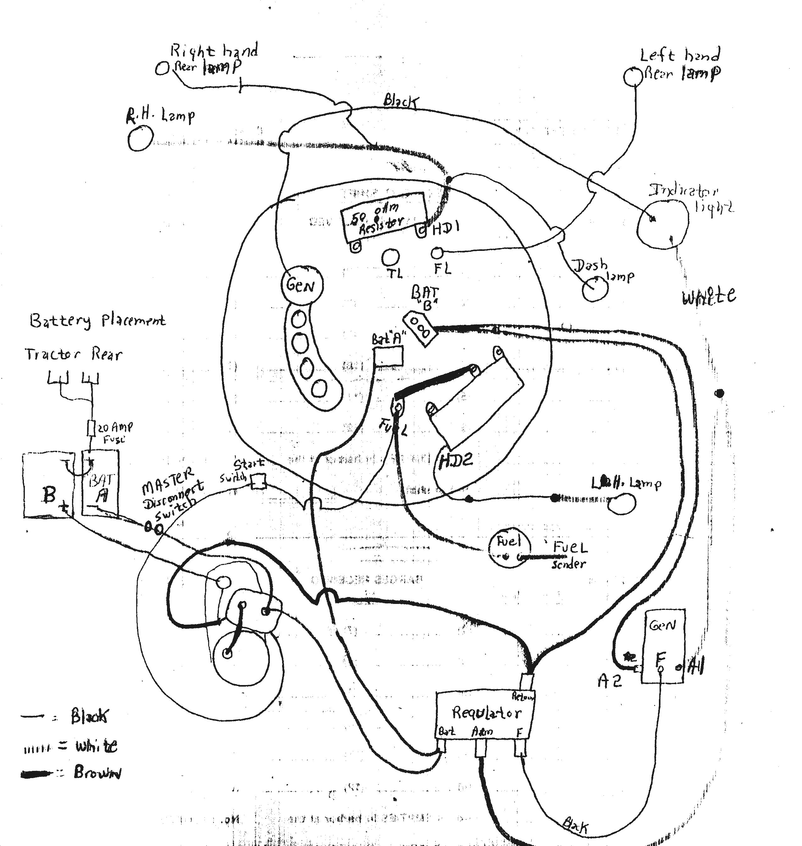 Garden Shed Wiring Diagram besides Starter Crank Fuel Shutoff Solenoid Wiring furthermore 7 Way Trailer Wiring Diagram besides Ford Pertronix Electronic Ignition Wiring Diagram furthermore Wiring Diagram For Allis Chalmers C Tractor. on 12 volt ford tractor wiring diagram