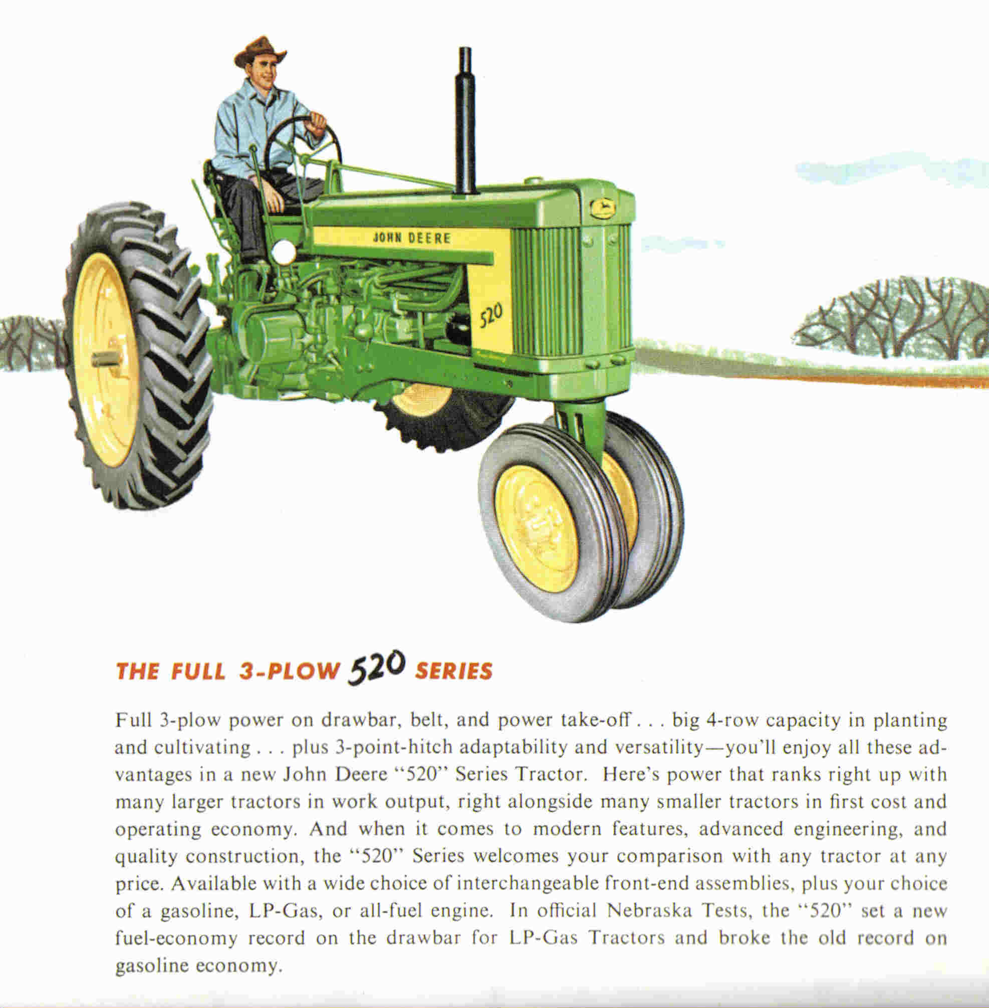 John Deere Tractor Ad : The john deere a real gem of tractor to operate