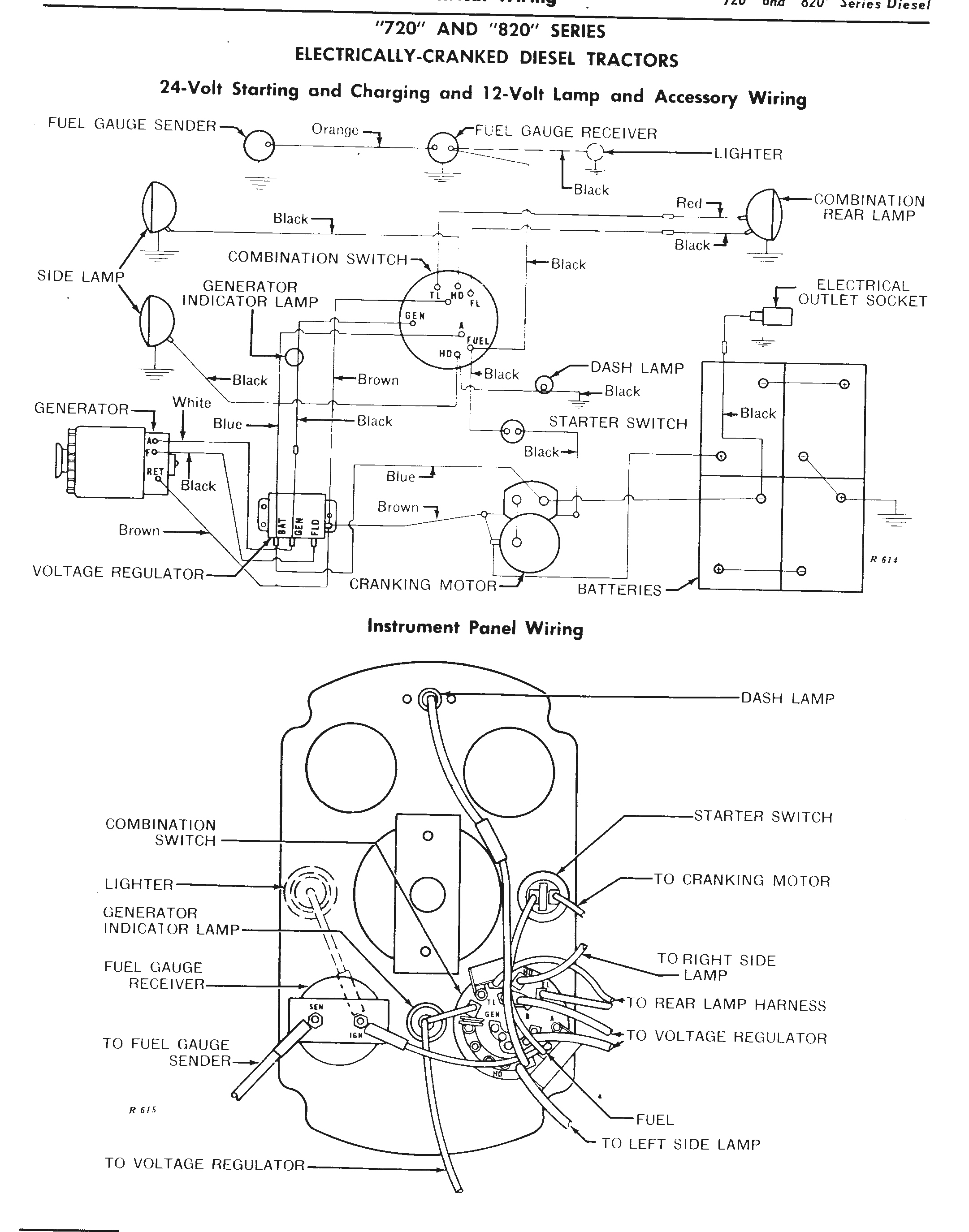 the john deere 24 volt electrical system explainedJohn Deere 4020 Fuel Guage Wiring Diagram #10