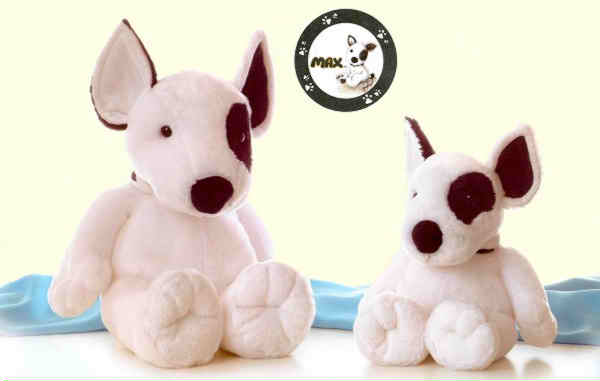 Discover how very Cute these Stuffed Bull Terriers are